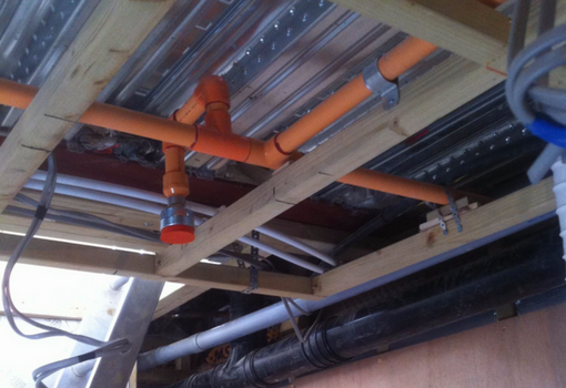 Fire sprinkler installation